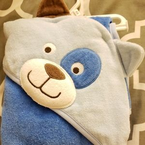 Carter's Hooded Towel Blue Puppy NWOT